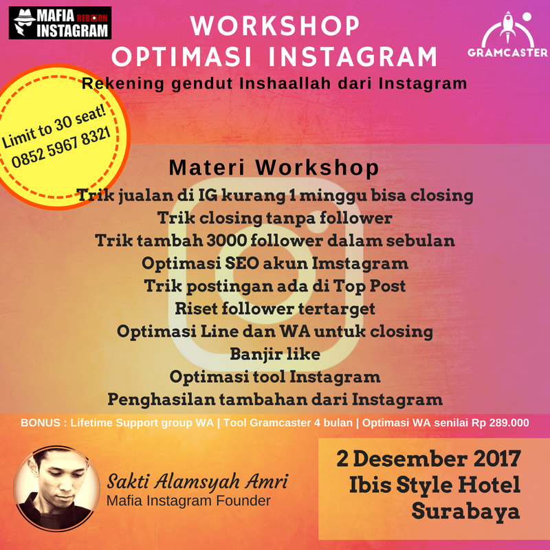 Workshop Instagram Surabaya 2017