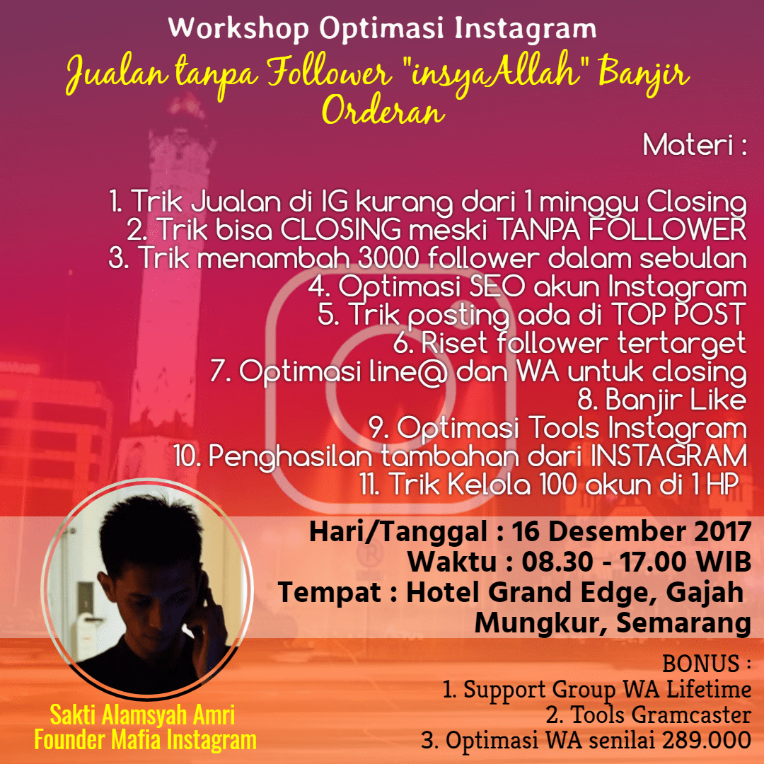 Workshop Instagram Semarang 2017