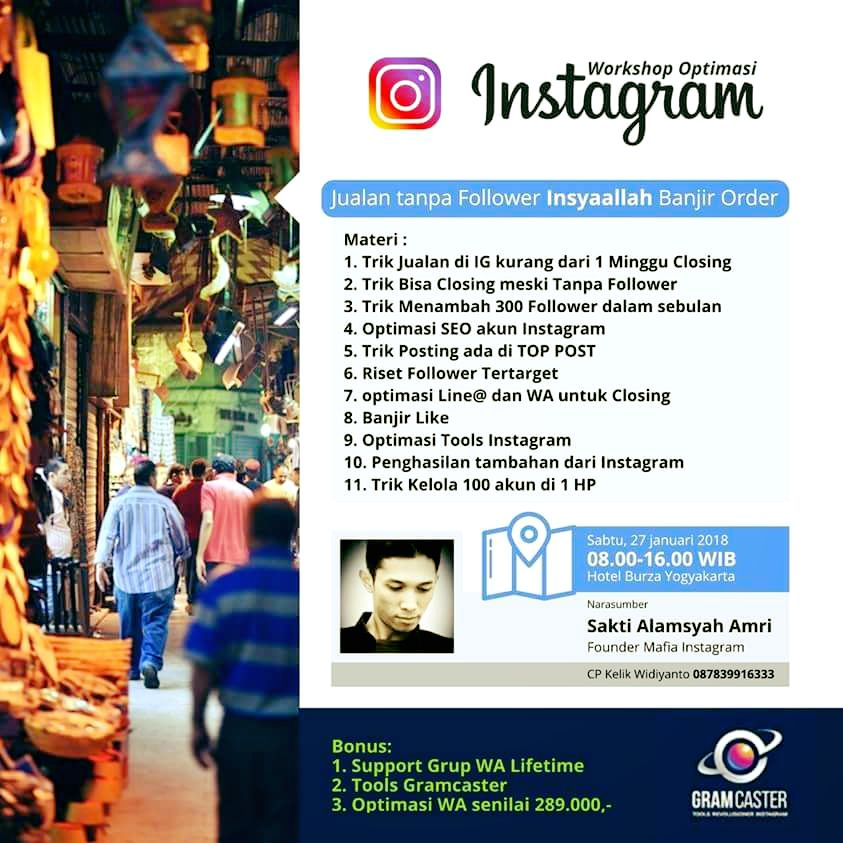 Workshop Instagram Jogja 2018