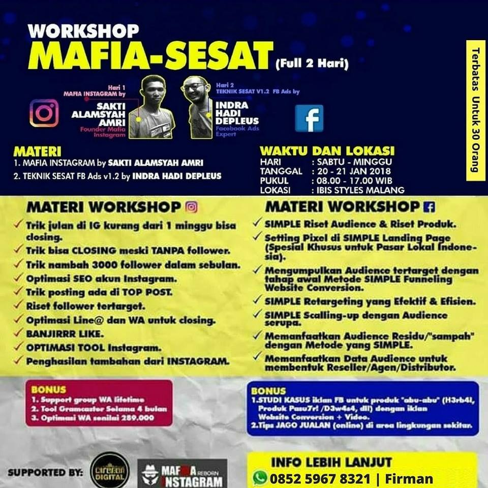 Workshop Instagram Malang 2018